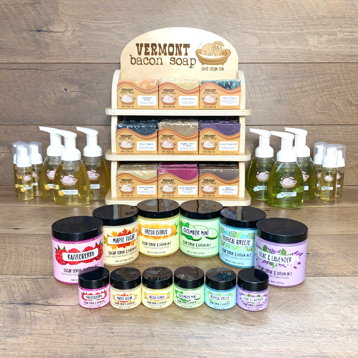 Wholesale Bar Soap, Liquid Soap & Sugar Scrub Starter Kit
