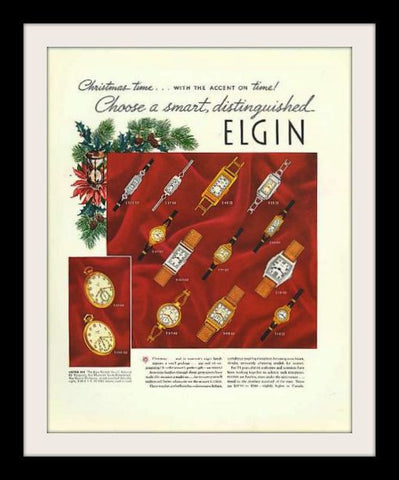 "1936 Elgin Watch Ad ""Christmas""-Original-Stills Of Time"