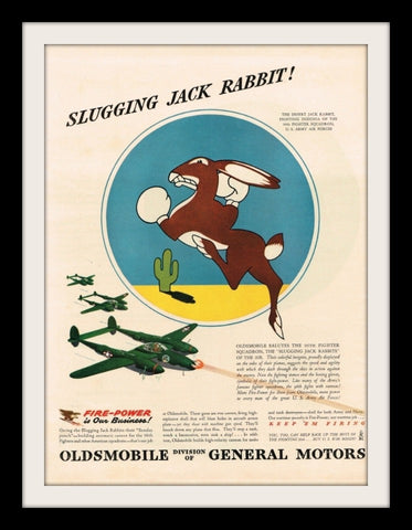 "1943 Oldsmobile General Motors Ad ""Jack Rabbit""-Original-Stills Of Time"