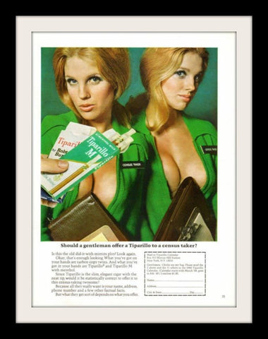 "1967 Tiparillo Cigar Ad ""Sexy Census Taker Twins""-Original-Stills Of Time"