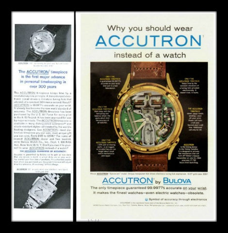 1962 Bulova Accutron Spaceview Watch Ad-Original-Stills Of Time