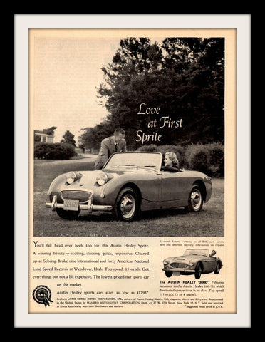 1960 Austin Healey Sprite 3000 Car Ad-Original-Stills Of Time