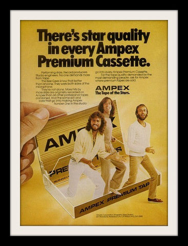 "1981 Ampex Audio Cassette Ad ""Bee Gees""-Original-Stills Of Time"
