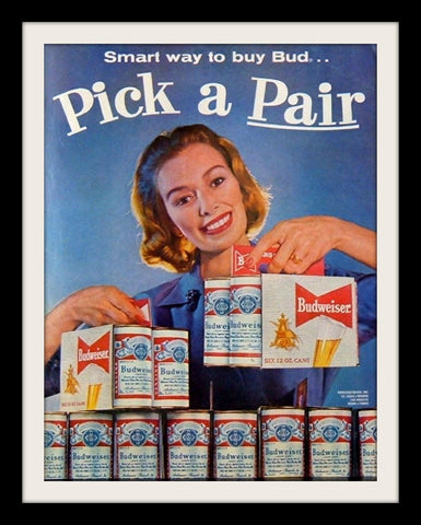 "1960 Budweiser Beer Ad ""Housewife: Pick Pair""-Original-Stills Of Time"