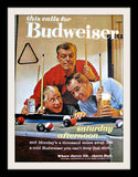 "1960 Budweiser Beer Ad ""Pool Billiards""-Original-Stills Of Time"