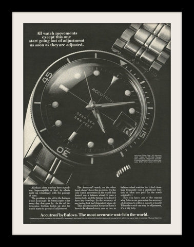 "1969 Bulova Accutron Watch Ad ""Deep Sea""-Original-Stills Of Time"