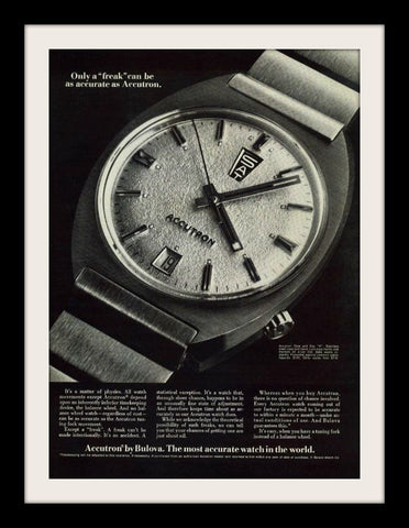 "1970 Bulova Accutron Watch Ad ""Physics Freak""-Original-Stills Of Time"
