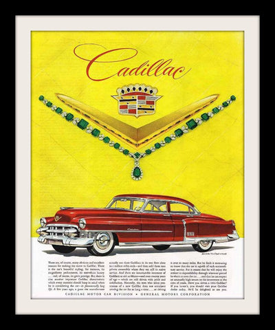 "1953 Cadillac De Ville Car Ad ""Emerald""-Original-Stills Of Time"