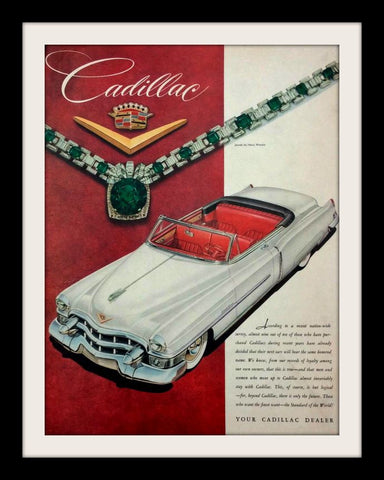 "1953 Cadillac Eldorado Car Ad ""Emerald""-Original-Stills Of Time"