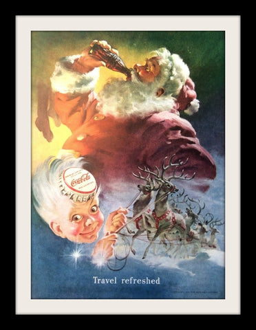 "1949 Coke Coca Cola Ad ""Travel Refreshed""-Original-Stills Of Time"