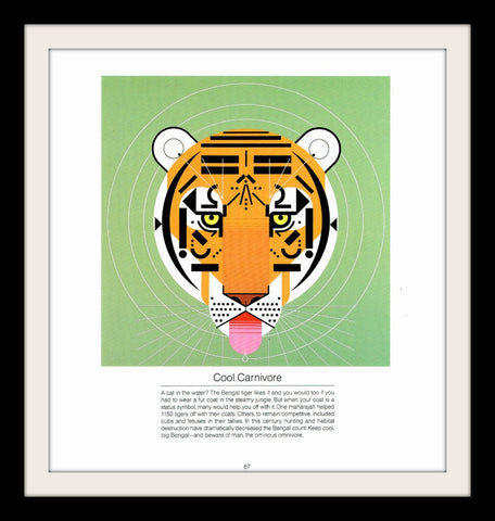 "Charley Harper ""Cool Carnivore"" Art Print-Original-Stills Of Time"