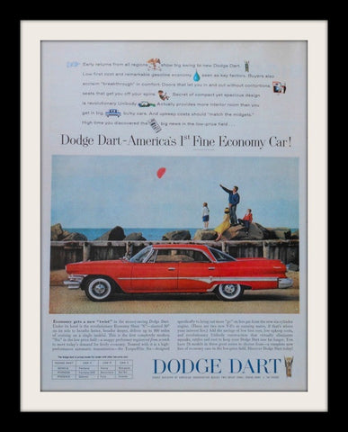 "1960 Dodge Dart Car Ad ""Economy""-Original-Stills Of Time"