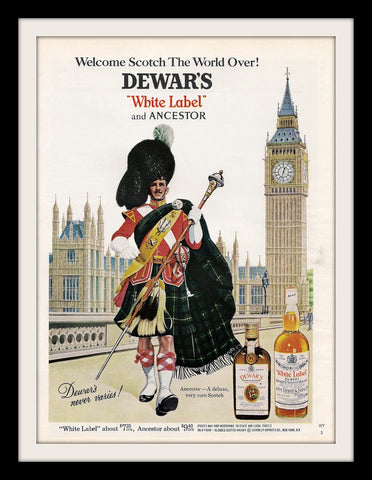 "1968 Dewar's Scotch Ad ""Big Ben Clock""-Original-Stills Of Time"