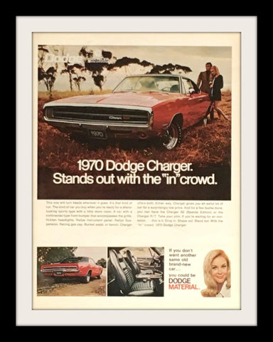 "1970 Dodge Charger Car Ad ""In Crowd""-Original-Stills Of Time"