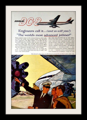 "1960 Douglas Airline Ad ""Advanced Jetliner""-Original-Stills Of Time"