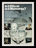 "1973 Memorex Cassette Tape Ad ""Ella Fitzgerald""-Original-Stills Of Time"