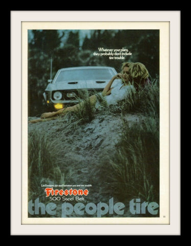 "1972 Firestone Tires Ad ""Mustang Mach 1""-Original-Stills Of Time"