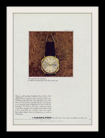 1969 Hamilton Day Date Watch Ad-Original-Stills Of Time