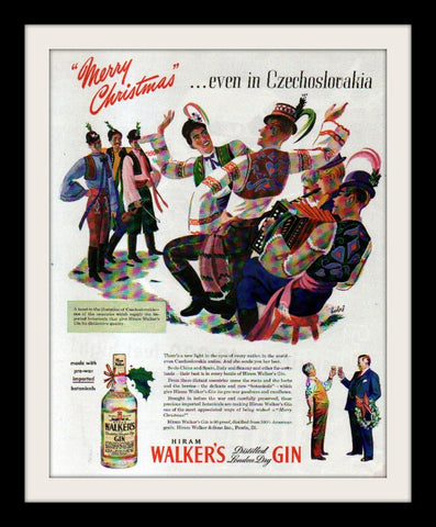 "1945 Hiram Walker Ad ""Bobri: Czech""-Original-Stills Of Time"