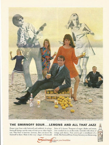 "1967 Smirnoff Vodka Ad ""Jazz Beach Party""-Original-Stills Of Time"