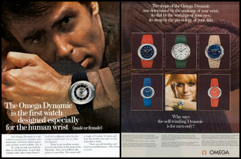 1969 Omega Dynamic Watch Ad-Original-Stills Of Time