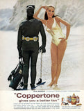 "1968 Coppertone Sunscreen Ad ""Julie Newmar: Scuba""-Original-Stills Of Time"