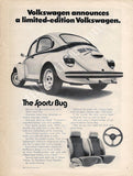 1973 Volkswagen Sports Bug Ad-Original-Stills Of Time