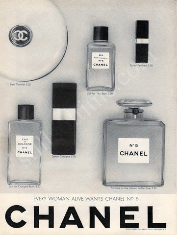 "1964 CHANEL No. 5 Perfume Ad ""Alive""-Original-Stills Of Time"