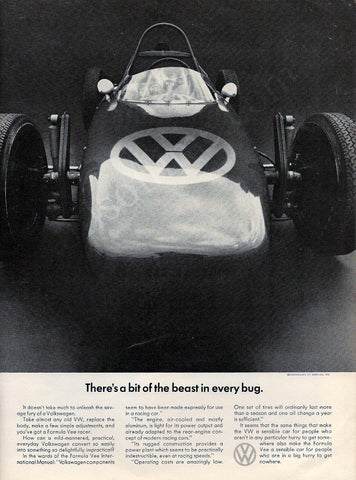 1967 VW Formula Vee Race Car Ad-Original-Stills Of Time