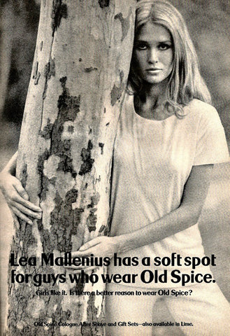 "1969 OLD SPICE Cologne Ad ""Lea Mallenius""-Original-Stills Of Time"