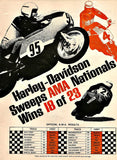 "1969 HARLEY DAVIDSON Motorcycle Ad ""A.M.A""-Original-Stills Of Time"