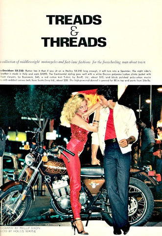 "1978 Harley Davidson SX-250 Motorcycle ""Treads""-Original-Stills Of Time"