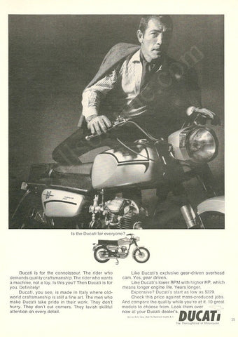 1966 DUCATI 160 Monza Motorcycle Ad-Original-Stills Of Time