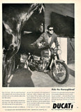 1967 DUCATI 350 Motorcycle Ad-Original-Stills Of Time