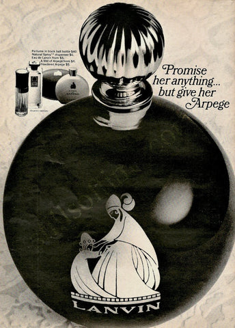 "1966 Lanvin Arpege Perfume Ad ""Round Bottle""-Original-Stills Of Time"