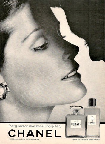 "1970 CHANEL No. 5 Perfume Ad ""Couple's Kiss""-Original-Stills Of Time"