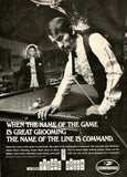 "1969 Command Hair Ad ""Pool Billiards""-Original-Stills Of Time"