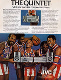 "1981 JVC Quintet Stereo Ad ""Harlem Globetrotters""-Original-Stills Of Time"