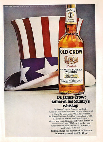 "1968 Old Crow Bourbon Whiskey Ad ""Father Country""-Original-Stills Of Time"