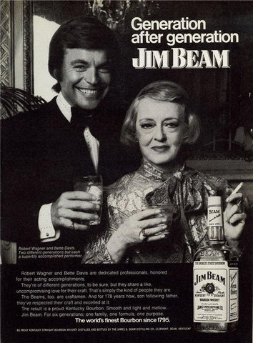 "1973 Jim Beam Bourbon Ad ""Bette Davis""-Original-Stills Of Time"