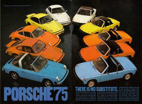 "1975 Porsche Carrera Car Ad ""No Substitute""-Original-Stills Of Time"