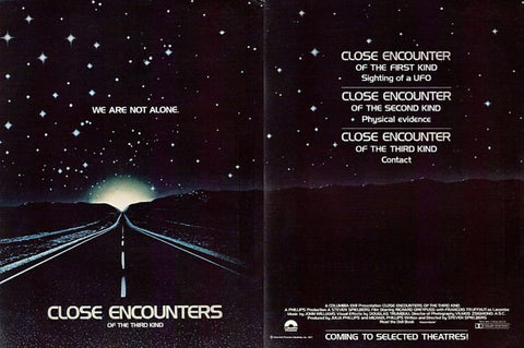 1977 Close Encounters Of The Third Kind Movie Ad-Original-Stills Of Time