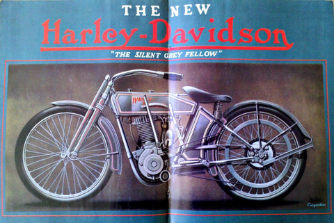 "David Mann Motorcycle Art ""Harley Davidson: Silent Grey Fellow""-Original-Stills Of Time"