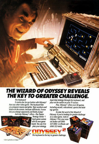 "1982 Magnavox Odyssey 2 Video Game Ad ""Wizard""-Original-Stills Of Time"