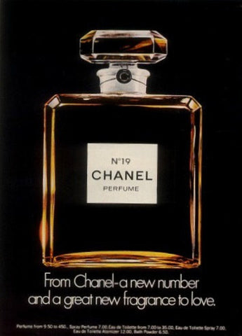 "1973 CHANEL No. 19 Perfume Ad ""New""-Original-Stills Of Time"