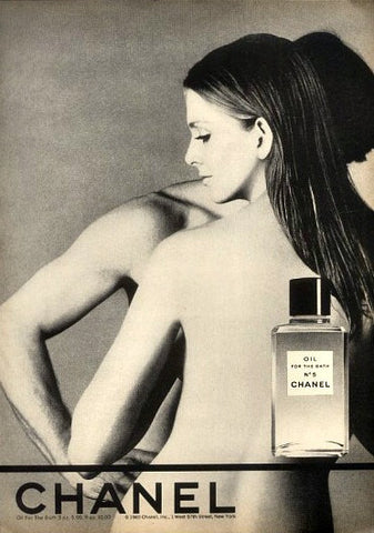 "1970 CHANEL No 5 Perfume Ad ""Nude Woman""-Original-Stills Of Time"