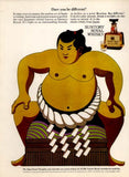"1971 SUNTORY Whisky Ad ""Sumo Wrestler""-Original-Stills Of Time"