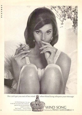 1966 WIND SONG & Woman Perfume Ad-Original-Stills Of Time