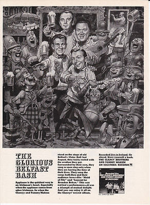 "1965 Clancy Brothers Music Ad ""Belfast Bash""-Original-Stills Of Time"