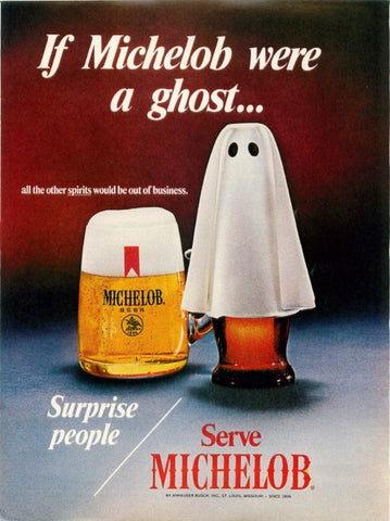 "1977 Michelob Beer Ad ""Ghost""-Original-Stills Of Time"